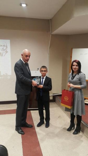 18 Mart Şehitleri Anma Günü ve Çanakkale Zaferitemalı resim yarışması ikinciliği